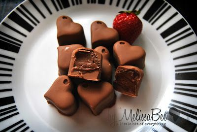 home made chocolate candies, filled with chocolate ganache. made byMelissaBee