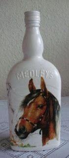 cudARTeńka: Butelka dla miłośnika koni