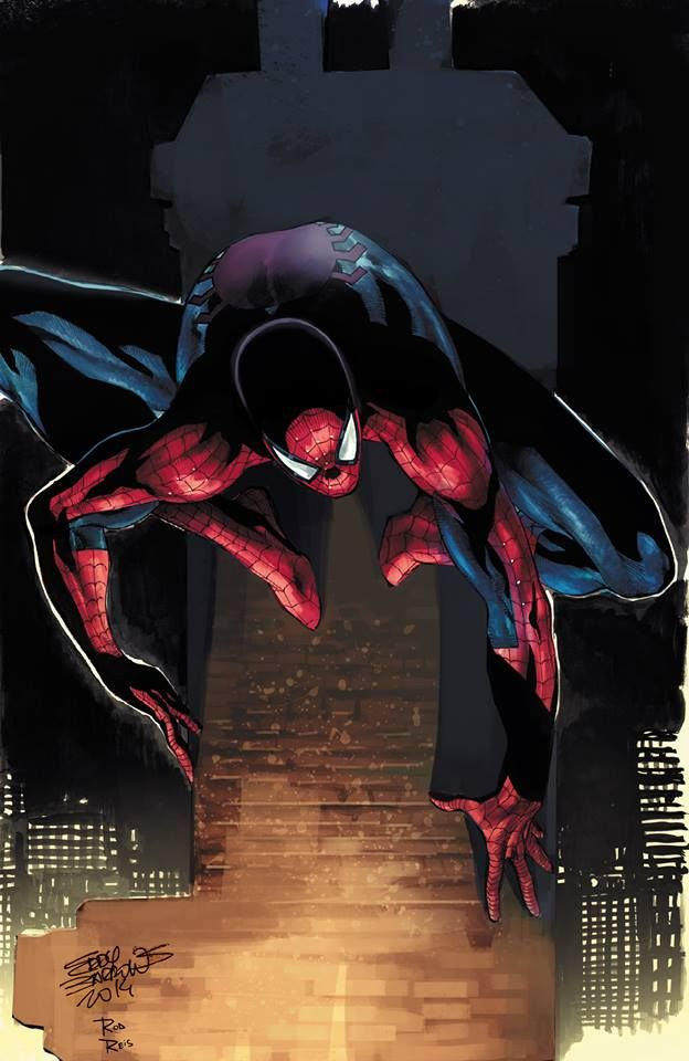 Spider-Man by Eddy Barrows, colours by Rod Reis