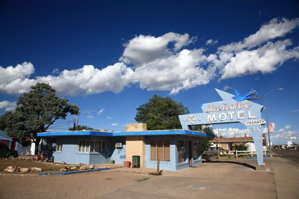 Route 66 - Blue Swallow Motel, Tucumcari, New Mexico. Yes, that's a New Mexico sky! Fine Art photography from $32.