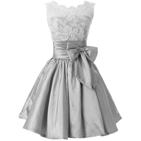 Kingbridal Women's Taffeta Short Party Bridesmaid Dresses Homecoming... (£56) ❤ liked on Polyvore featuring dresses, gowns, short evening dresses, short ball gowns, short dresses, going out dresses and short gowns