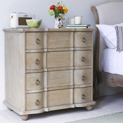 OTTERLEY CHEST OF DRAWERS Want to know the four ingredients for this beauty? Weathered oak. Nice curves. Vintage-feel handles. And good old-fashioned elbow grease. Easy does it.