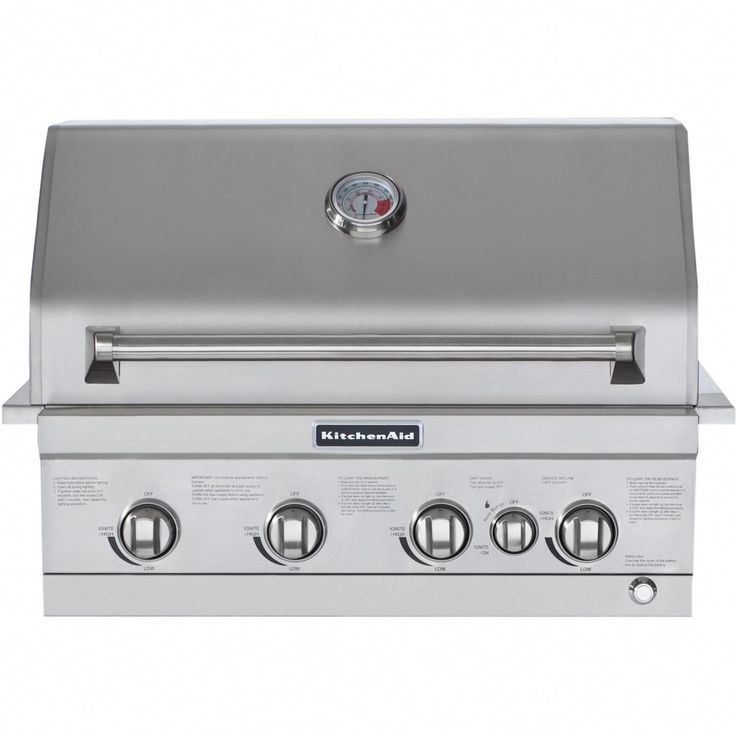 Kitchenaid 30inch natural gas builtin grill with rear