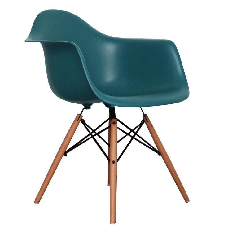 Eiffel Tub Chair Wood Teal