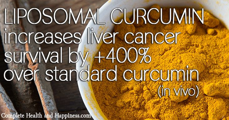 Liposomal Curcumin Increases Liver Cancer Survival +400% over Standard Curcumin in Vivo