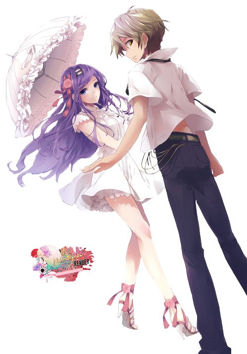 Deviantart more like anime couple render by arinnea - Image manga couple ...