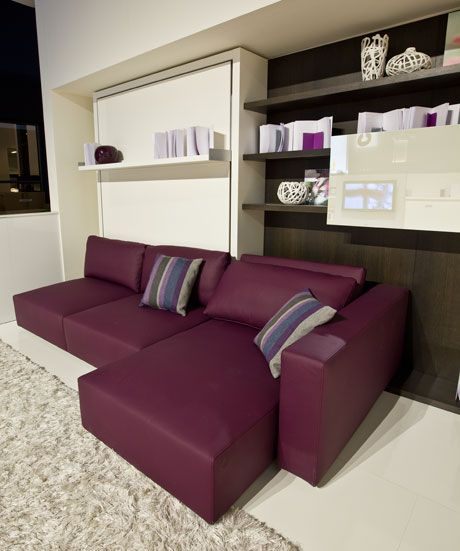 Functional Furniture With Folding Bed For Small Living Room   Swing By Clei