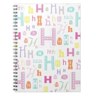Monogram design letter H Notebook