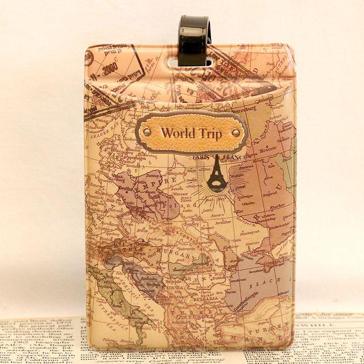 Palavra Mapa de viagem Etiqueta de Bagagem Especial Personalidade Piloto Marca Ombro Bolsa Tag Acessórios de Viagem