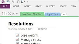 Top 10 Office 365 tools for managing New Year's resolutions