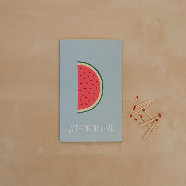 Watermelon fever _Hand-stitched 40 page blank notebook _Sketchy Notebooks _www.sketchynotebooks.com