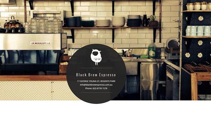 black brew espresso website