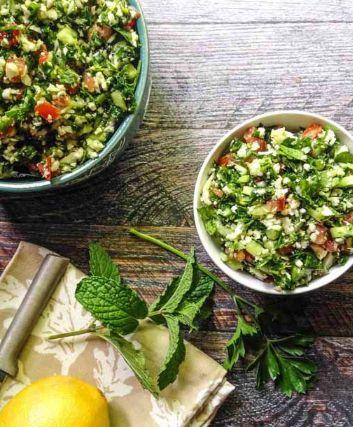 cauliflower tabbouleh recipe, via @Refinery29