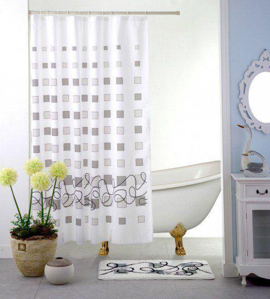 227 best bathrooms images on pinterest bathroom ideas for Master bathroom curtains