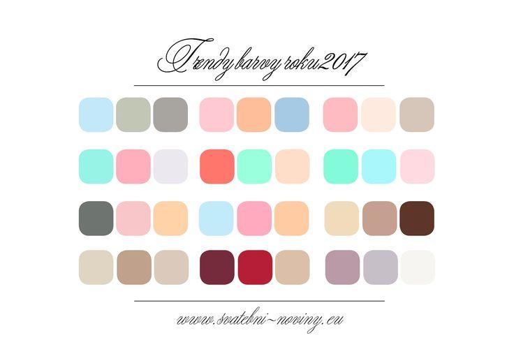 Svatební barvy roku 2017
