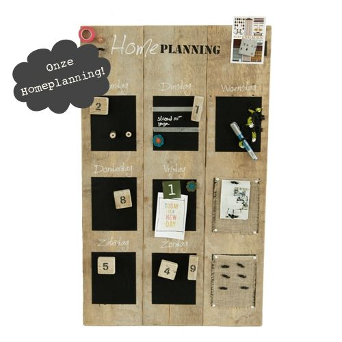Weekplanner steigerhout Medium