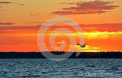 Beautiful sunrie at Lake Balaton (Hungary)