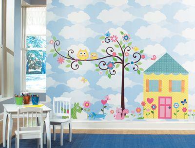 Cute nursery/kids room...Owls...: Wall Art, Wall Decor, Kids Bedrooms, Kids Plays Rooms, Wall Decals, Owl Theme, Bedrooms Decor Ideas, Girls Rooms, Kids Rooms