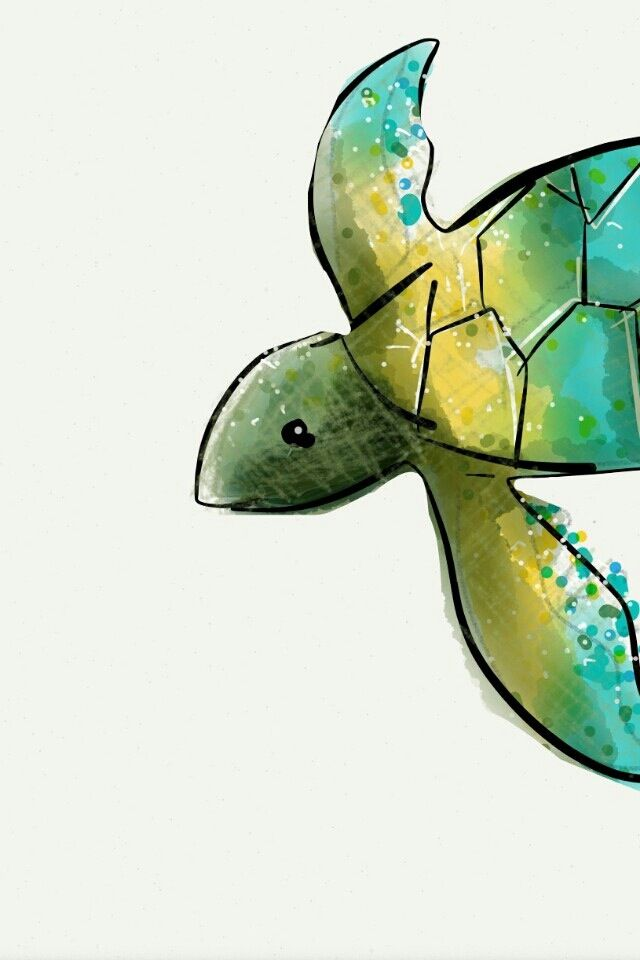 Beautiful turtle background found on the iPhone app