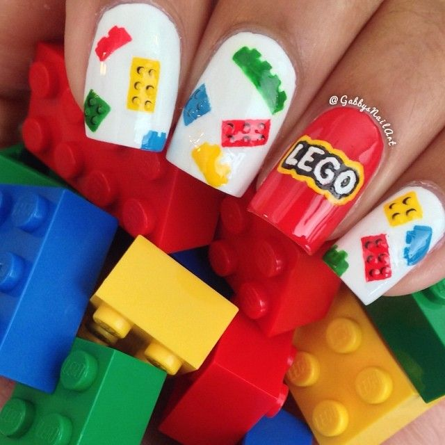 lego's inspired nails by gabbysnailart #fav