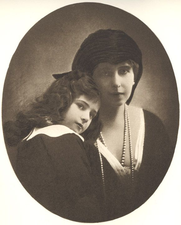 My First Photograph as Queen - Queen Marie with Princess Ileana