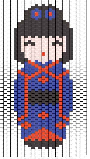 Kokeshi doll bead pattern