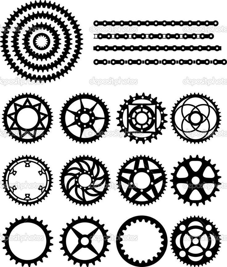 lánc és fogaskerekek, a kerékpár - Stock Illustration: 39914815