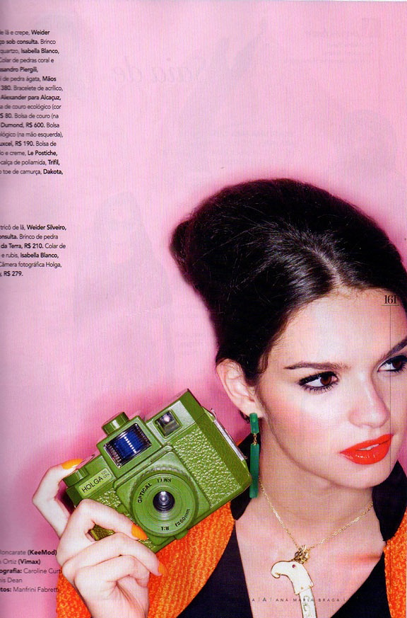 Holga CFN 120 in a lovely shade of green. As seen in the May issue of Revista Brazil.