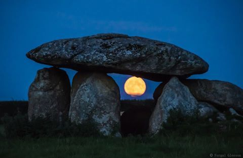 The moon viewed through Haroldstown Dolmen, Co Carlow, Ireland. Thanks to Fergal Gleeson Photography
