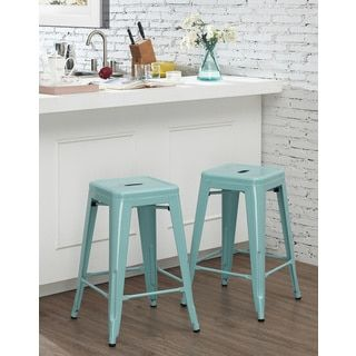 Shop for Tabouret 24-inch Light Blue Counter Stool (Set of 2). Get free shipping at Overstock.com - Your Online Furniture Outlet Store! Get 5% in rewards with Club O!