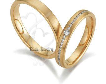 Suo & lei corrispondenti fedi impostata anelli di di TallieJewelry