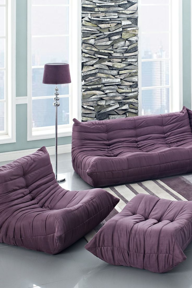 Elegance Modular Sectional Sofa Set - Purple ~ totally freaking love this! : purple sectional couch - Sectionals, Sofas & Couches