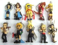 Final Fantasy Keychains Set of 10 *FREE SHIPPING*