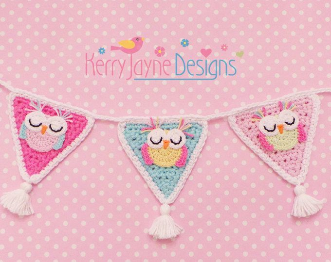 Crochet Pattern For Minion Baby Outfit : 25+ best ideas about Owl bunting on Pinterest Bunting ...
