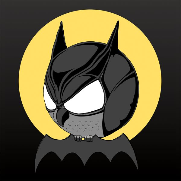 So bat! Batmanulka. #batman #dc_comics #illustration #owl #art #black #sowulka #sowa #bat #so_bad