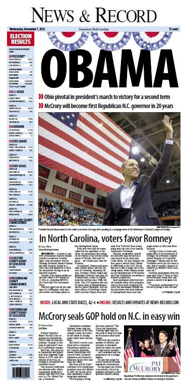 News & Record, Nov. 7, 2012