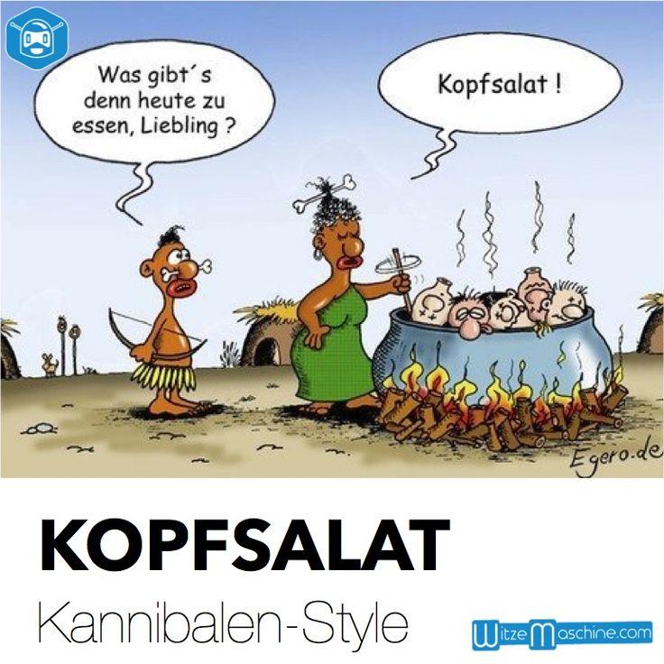 Kopfsalat - Kannibalen Witze, Schwarzer Humor | WitzeMaschine