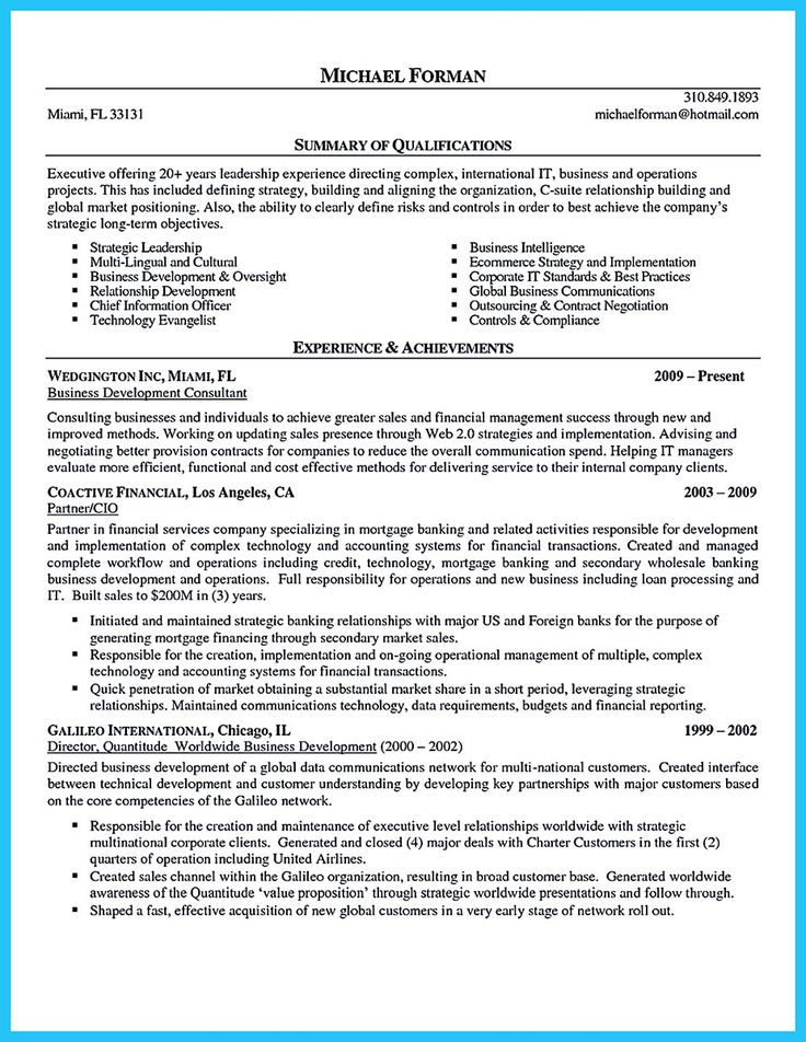 If you can make better business intelligence resume, you