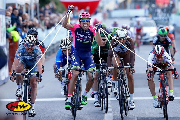 This is how strong @cimo89 of @lampre_merida was today at #TrofeoLaigueglia