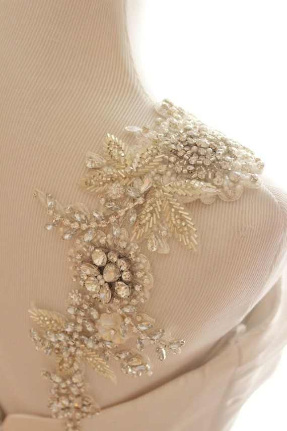 Bridal Straps. Statement Straps. Rhinestone Dress Straps. Statement Dress Straps. Bridal Statement Straps. Wedding Accessory This piece is handmade to order and will ship in an estimated 4-6 weeks after purchase via DHL Express shipping (2-5 days, 2 days on average for US