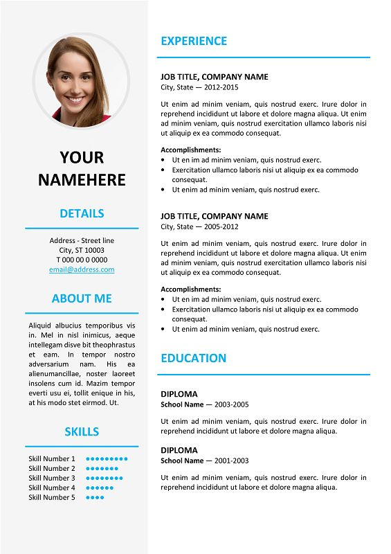 124 Best Classic Resume Templates Images On Pinterest | Free