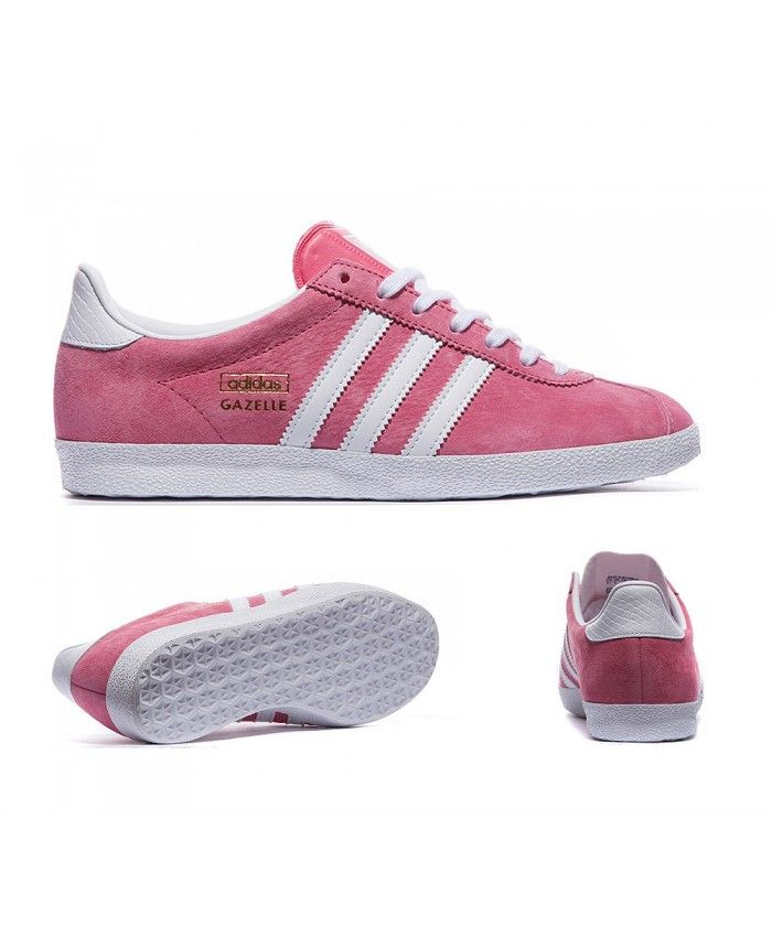 Adidas Sale Originals Gazelle Og Lush Pink And White Trainers