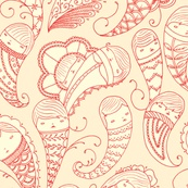 Ghostly Paisley in BloodlustFantastic Fabrics, Colors Pattern, Artsy Fartsy, Ghosts Paisley