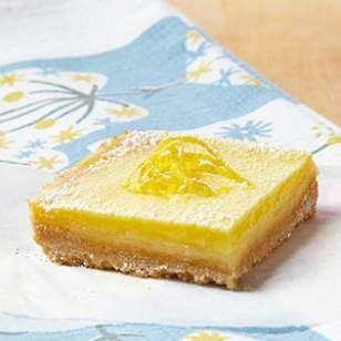healthy Lemon Squares Recipe