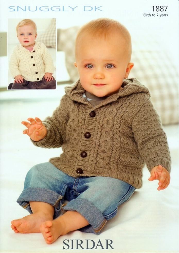 Sirdar Baby Cardigan Jacket Dk Knitting Pattern 1887 Baby