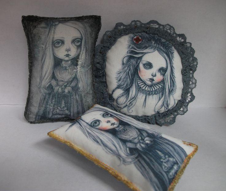 wearable art = brooches of my drawings = www.etsy.com/uk/shop/RubyTrinket