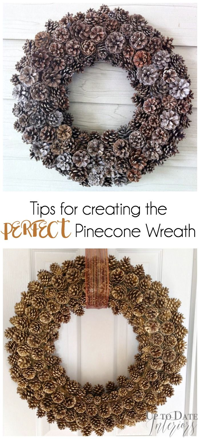 Great tips for creating your own pinecone wreath!!