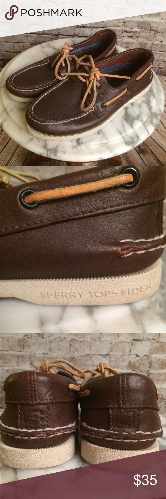 Sperry TOPSIDER Dark Brown Boat shoes loafers Sperry TOPSIDER Dark Brown Boat shoes loafers.  Sz 6.5 Sperry Top-Sider Shoes Flats & Loafers