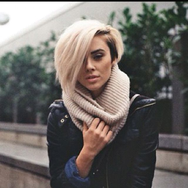 Edgy haircut, love the side cut, thinking I may go for it