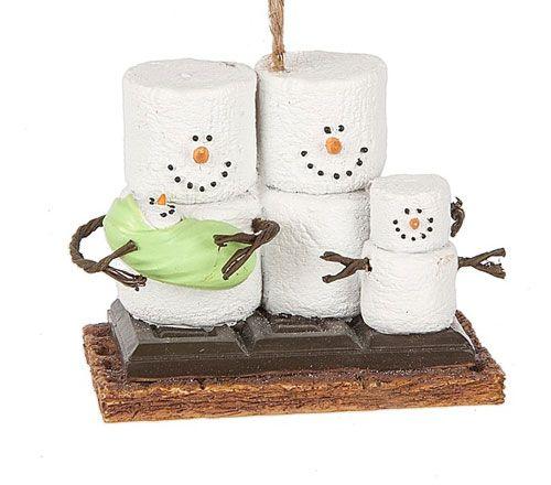 S'mores Original Family snowman ornament.
